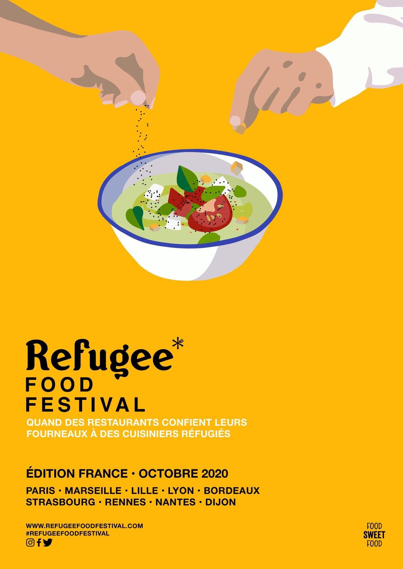 Food Sweet Food et soutenue par le HCR, l'Agence des Nations Unies pour les réfugiés.